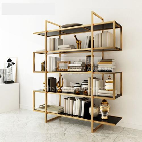 Luxury Stainless Steel Chinese Style Bookshelf Rack