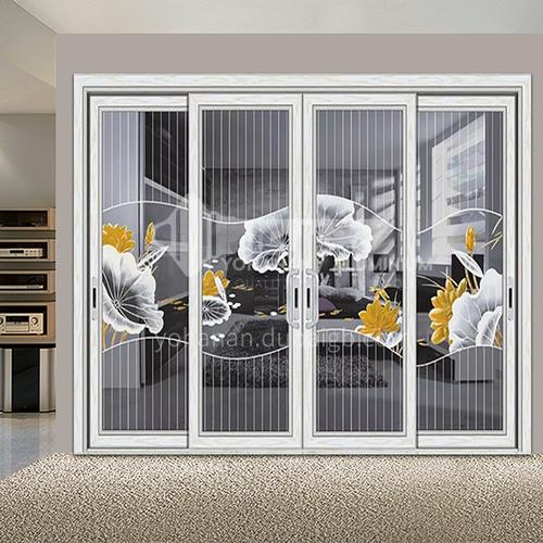 B 1.4mm aluminum balcony door glass sliding door villa modern flower decoration door 21