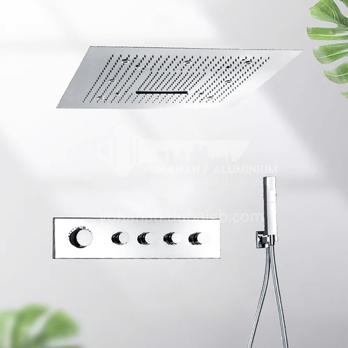 Oversized top sprayed into the wall constant temperature shower