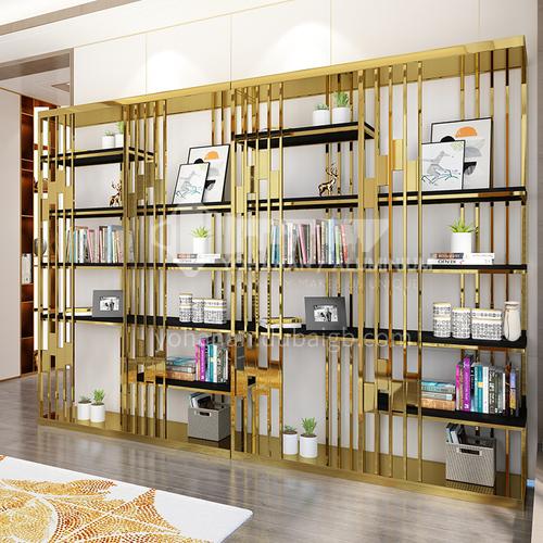 Stainless Steel Luxury Postmodern  Bookshelf Studying room Simple Storage Shelf