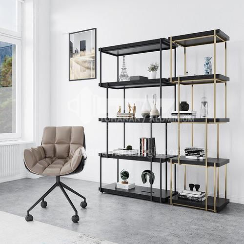 Stainless Steel Bookshelf Display Rack Italian Light Luxury Simple Modern