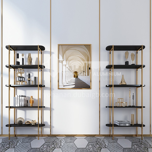 Stainless Steel Bookcase Multi-layer Storage Rack Living Room Modern