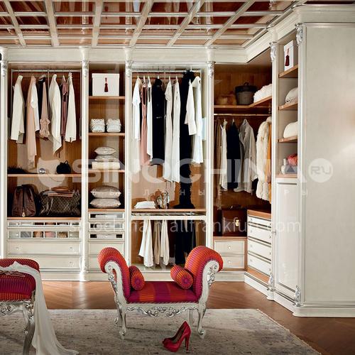 European style wardrobe classical PVC WITH HDF wardrobe-GW-281