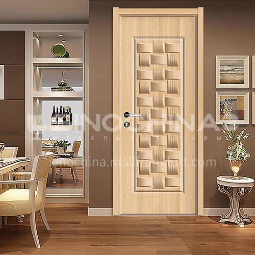 B simple style paint-free wooden door high quality soundproof bedroom door 38