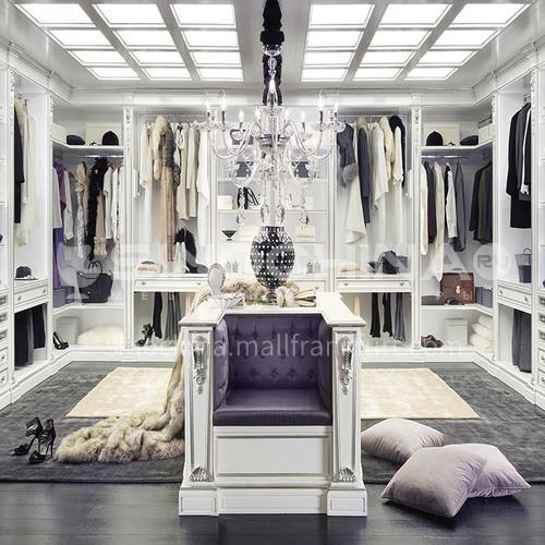 European style wardrobe classical PVC WITH HDF door wardrobe-GW-282