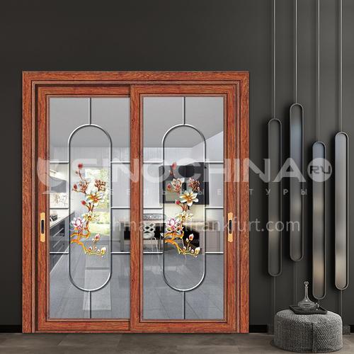 B 1.4mm aluminum alloy two-track sliding door living room glass door dining table door 25