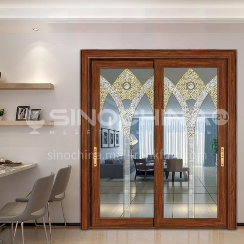 B 1.4mm custom aluminum alloy decorative glass door interior kitchen door living room door 26
