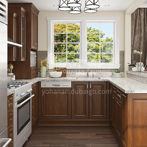 American style classical kitchen PVC with HDF-GK-305