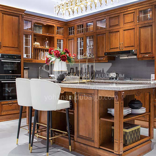 American style kitchen PVC with HDF-GK-307