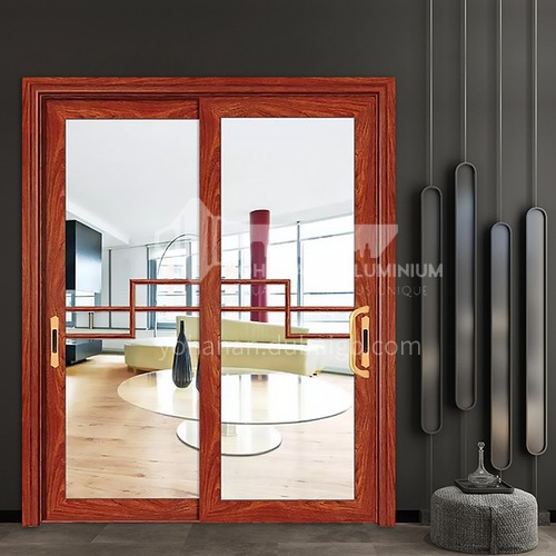 1.4mm Xinnuo series aluminum alloy glass patio outdoor door double glass aluminum alloy sliding door with lattice strip decoration