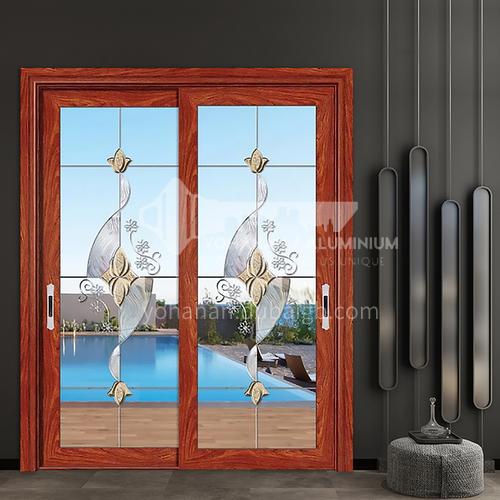 1.4mm series aluminum alloy two-track tempered glass sliding glass door craft glass kitchen door partition door