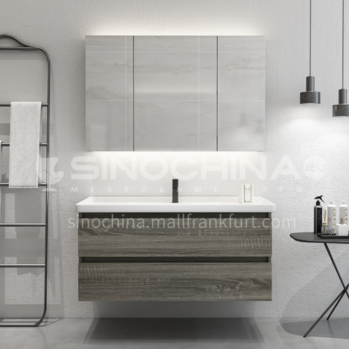 Economic wall hung modern design bathroom vanity cabinet OG1011
