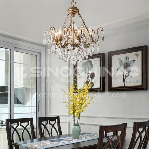 American chandelier living room post-modern creative light luxury bedroom dining room crystal lamp-WX-D9140