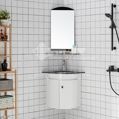High quality corner durable bathroom furniture corner durable waterproof wash basin cabinet wash mirrorJN2011