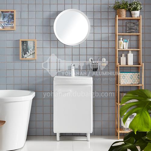 Modern style economic bathroom cabinet, White Freestanding sink bathroom vanity for apartment JN2012