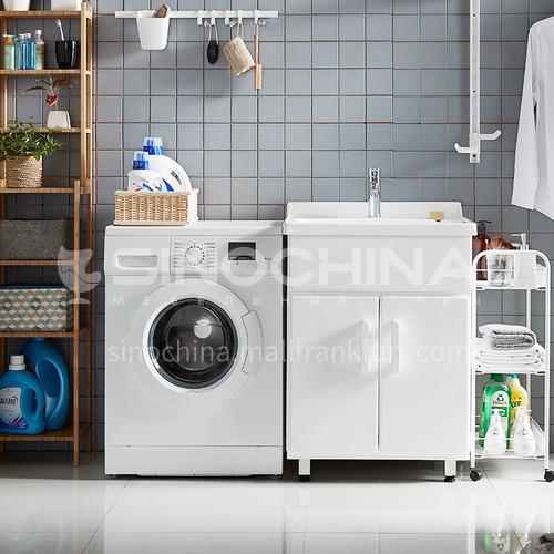 Balcony Waterproof Floor Type Bathroom Furniture Washing Cabinet SinkJN2021