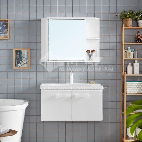 Wall-mounted waterproof wash basin luxury bathroom mirror cabinet vanity whiteJN2202