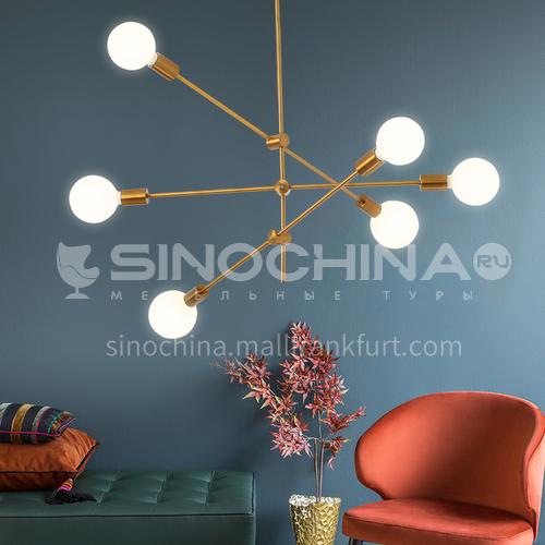 Nordic style chandelier living room lamp simple modern atmosphere creative molecule magic bean chandelier designer dining room lamp-GLD-8002