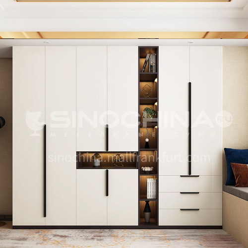 Modern  melamine with particle board Customized Style Wardrobe GW-155