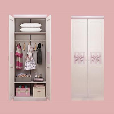 Jlx 321 Children 39 S Two Door Wardrobe Solid Wood Bedroom Furniture White Two Door Wardrobe Simple Wardrobe Storage Cabinet