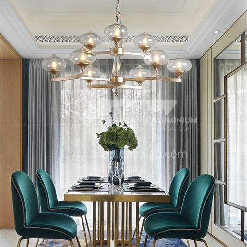 American chandelier living room light luxury simple personality creative fashion lighting post-modern dining room lamps-WX-G9015