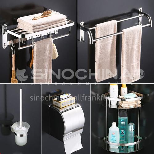Bathroom accessories 304 stainless steel five  piece set