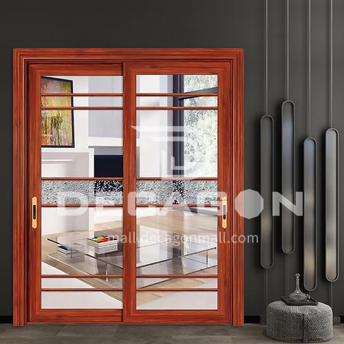 1.2mm aluminum alloy glass soundproof door, two custom glass sliding doors, patio doors