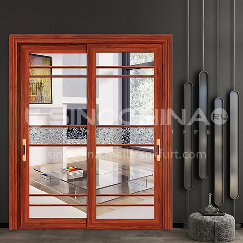 1.2mm aluminum alloy glass soundproof door, two custom glass sliding doors, patio doors