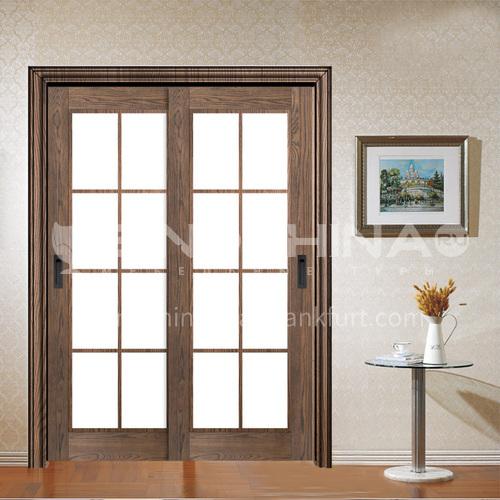 Hot sale indoor composite natural veneer sliding glass door kitchen door balcony door2