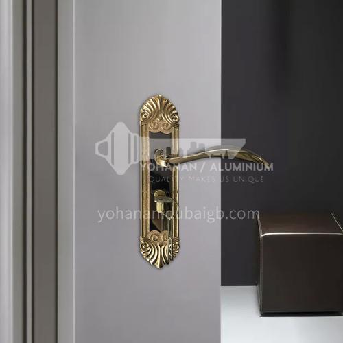 B Economical zinc alloy wooden door lock handle lock door handle 15