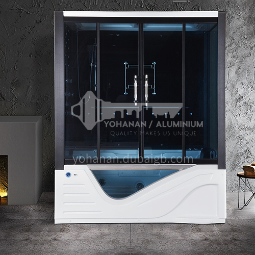 Integrated steam shower room   integral bathroom   sliding door   with bathtub    household shower room