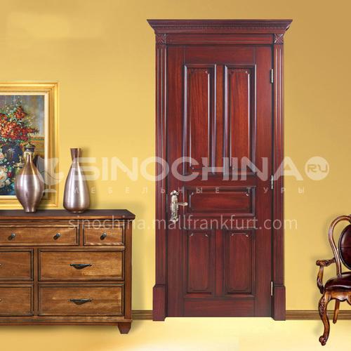 Congo Sapele solid wood bedroom door door with Roman column door head06