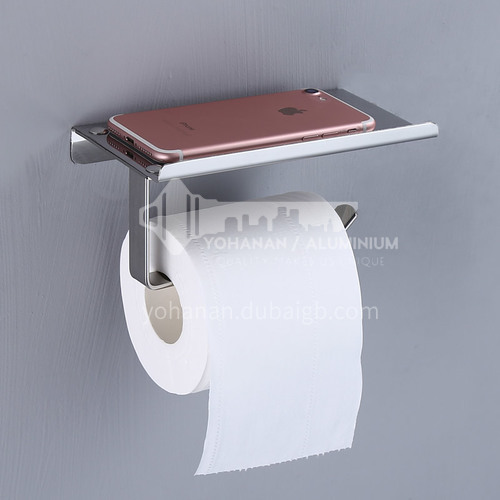 304 Stainless Steel Bathroom Accessories Toilet Paper Holder With Shelf