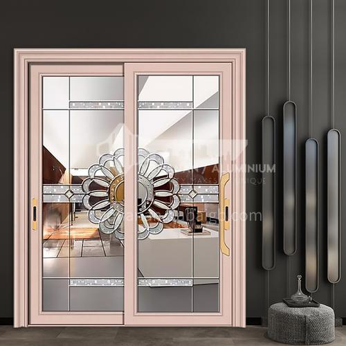 B 1.2MM aluminum alloy household indoor kitchen door glass door carved glass door 7