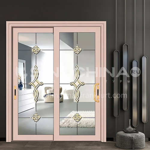 1.2mm durable high-quality engineering sliding door non-insulated glass aluminum sliding door