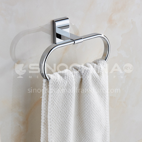 Bathroom silver towel ring