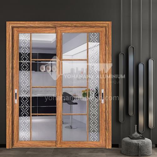 1.4mm customized high quality aluminum profile sliding door low rail art glass sliding door