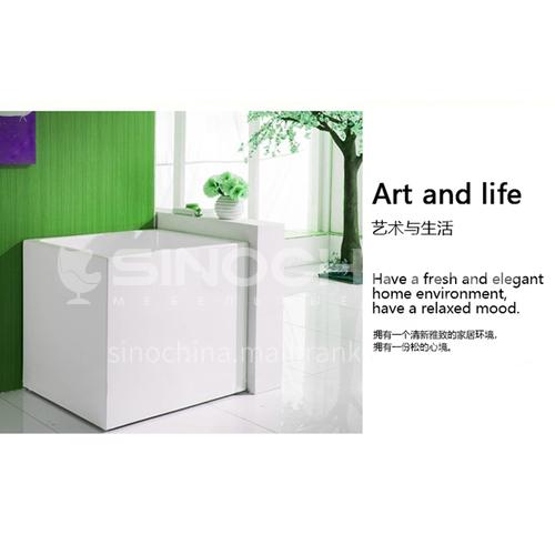 Acrylic bathtub  square shape    freestanding bathtub