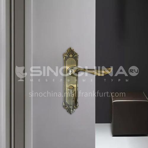 B Classic luxury zinc alloy bright green bronze lock mute lock, indoor wooden door lock set 45