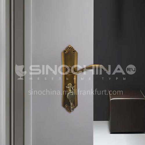 B Classic zinc alloy yellow bronze lock mute lock indoor wooden door lock 47