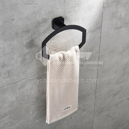 Bathroom black towel ring