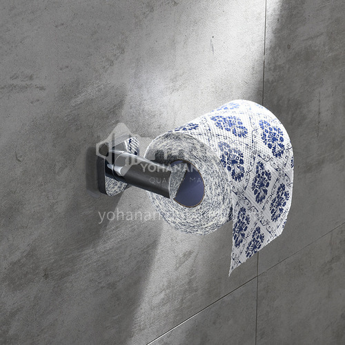Bathroom silver tissue holder