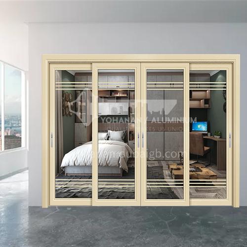 1.4mm aluminum alloy simple style two-track sliding door kitchen door balcony door