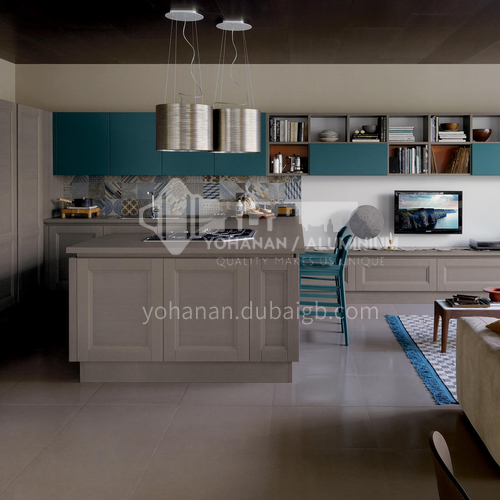 Classical style kitchen cabinet PVC with HDF-GK-408