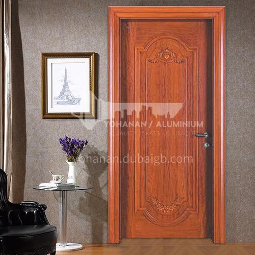 European style carved Sapele log door07