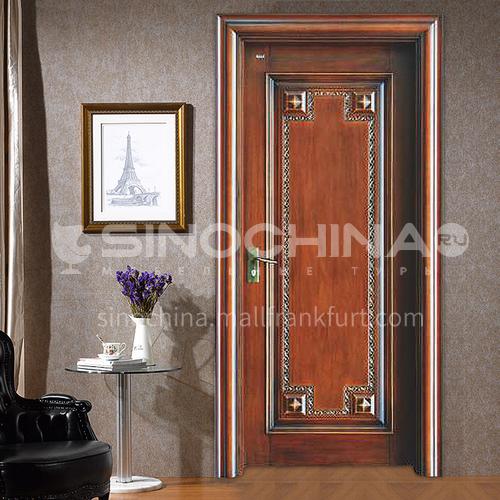 Classical carved design walnut solid wood door08