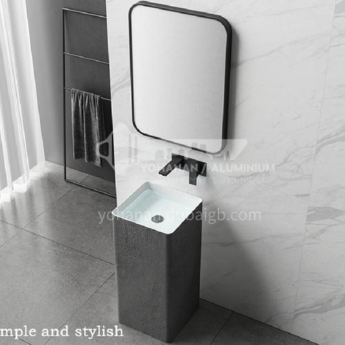 concrete grey artificial stone column basin DP619