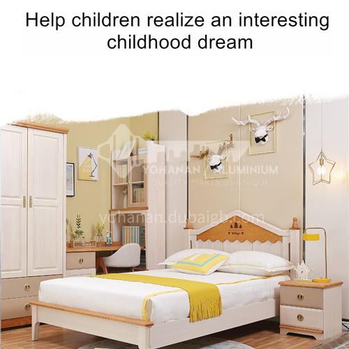 JFD-506 bedroom modern solid wood frame foam mattress children bed