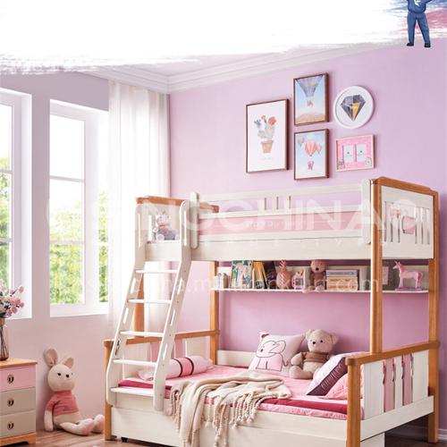 JFD-515 Bedroom Modern Solid Wood Frame Sponge Mattress Double Bed