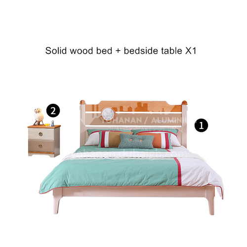 JFD-519 bedroom modern solid wood frame foam mattress children bed